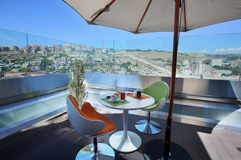 Opera Suite Hotel Yerevan rooftop open-air Buffet Restaurant