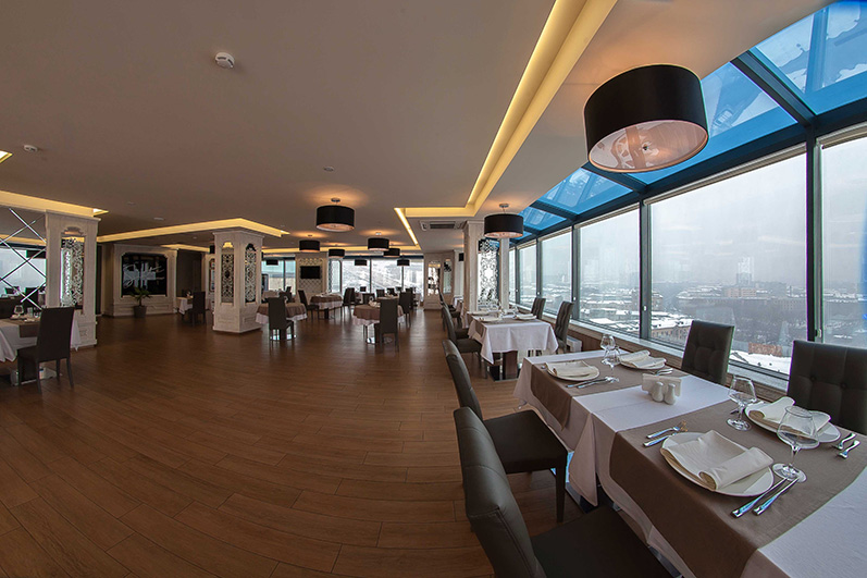 Opera Suite Hotel Yerevan Sinatra restaurant Cascade and Opera Panoramic view