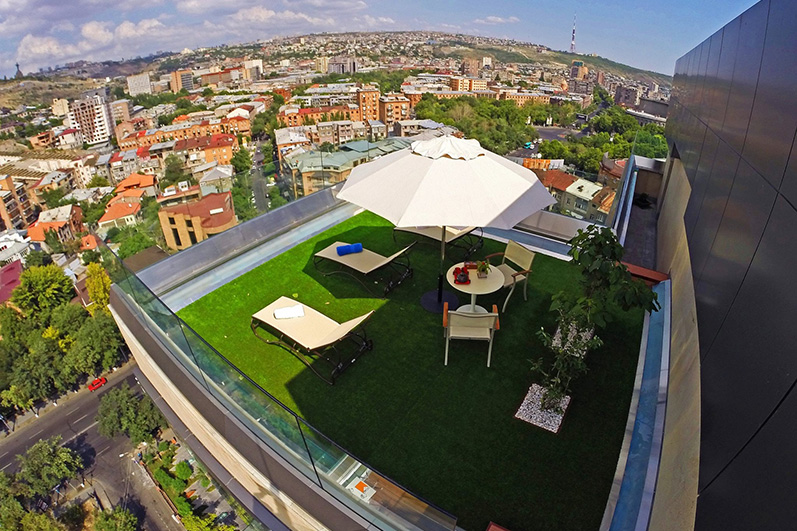 Opera Suite Hotel Yerevan long stay Sunbath terrace